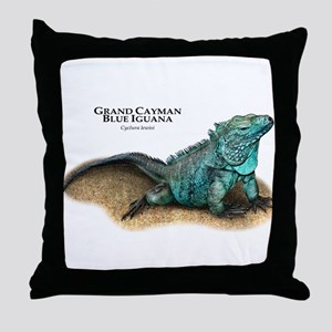 Grand Cayman Blue Iguana Throw Pillow